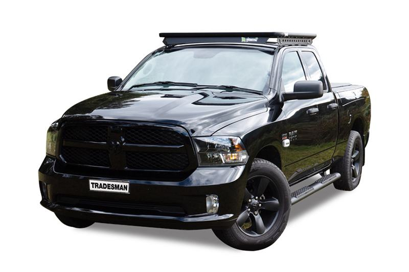 Dodge RAM 1500 with a Wedgetail roof rack installed on the cabin roof.